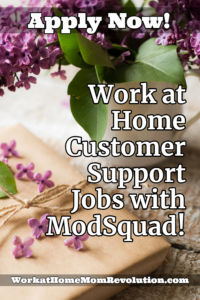 work at home customer support ModSquad