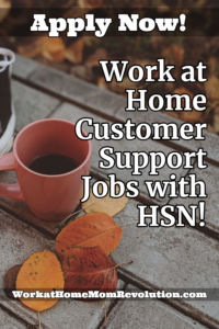 work at home sales and service jobs HSN