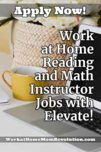 work at home reading and math instructor jobs Elevate