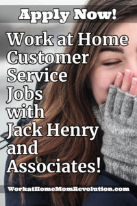 work at home customer service jobs Jack Henry and Associates