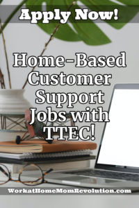 home-based customer support jobs with TTEC