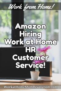 Amazon work at home hr customer service