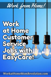 work at home customer support jobs EasyCare