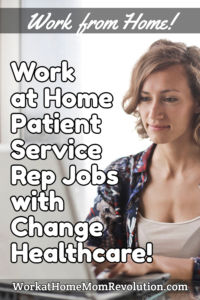 work at home patient service rep jobs Change Healthcare