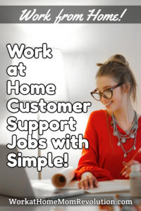 home-based customer support jobs Simple