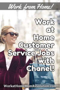 work at home customer support jobs Chanel