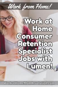 work at home consumer retention specialist jobs Lumen