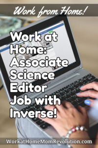 work at home associate science editor job with Inverse
