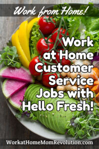 home-based customer service jobs with Hello Fresh