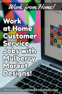 work at home customer service jobs Mulberry Market Designs