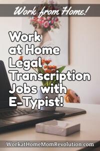 work at home legal transcription jobs E-Typist