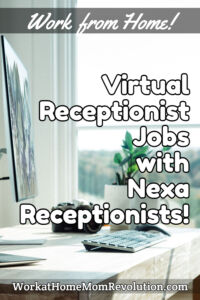 virtual receptionist jobs with Nexa Receptionists